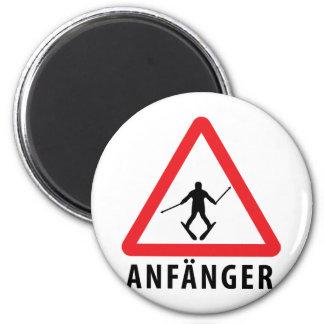 Ski Anfänger Warnschild icon Magnet