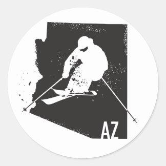 Ski Arizona Classic Round Sticker