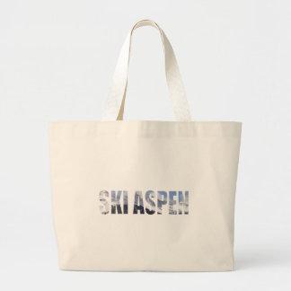 Ski Aspen Large Tote Bag