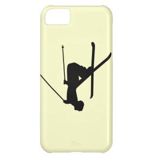 Ski Black Silhouette Cover For iPhone 5C
