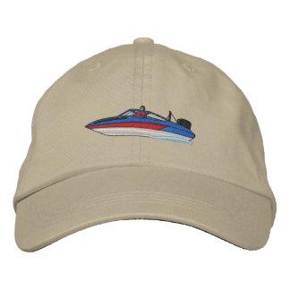 Ski Boat Embroidered Cap