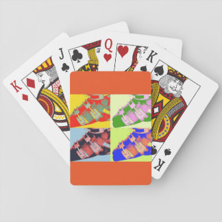 Ski boot playing cards