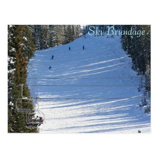 Ski Brundage, McCall, Idaho Postcard