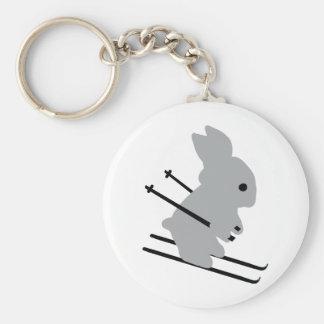 ski bunny icon key ring