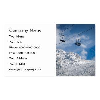 Ski chair lift business card template