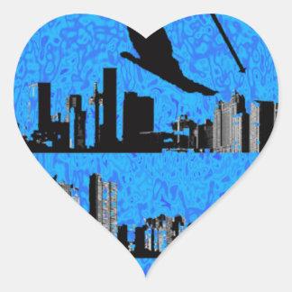 SKI CITY LIFE HEART STICKER