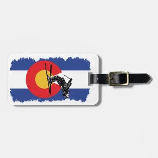 Ski Colorado! Distressed Version Luggage Tag