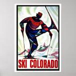 Ski Colorado US Vintage Travel Poster