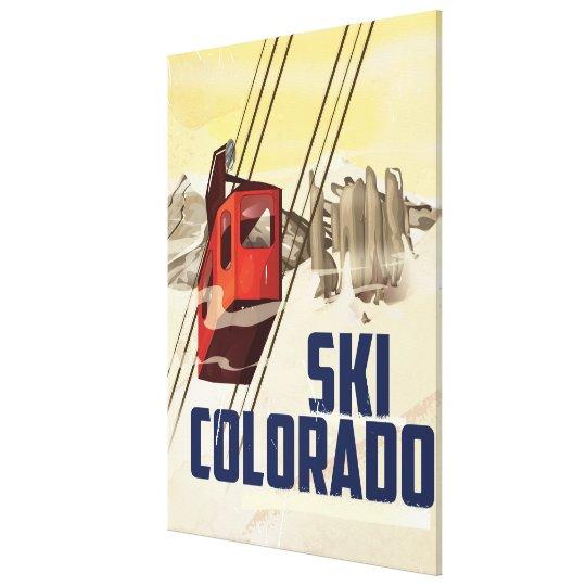 Ski! Colorado vintage travel poster Canvas Print
