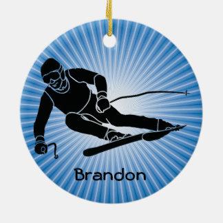 Ski Design Ornament