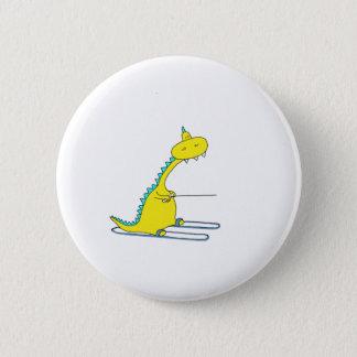 ski dino 6 cm round badge