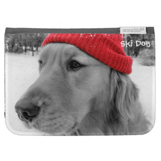 Ski Dog Golden Retriever Kindle Keyboard Case