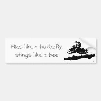 ski-doo-bkg.ai, Flies like a butterfly, stings ... Bumper Sticker
