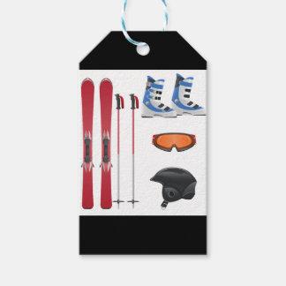 Ski Equipment Custom Gift Tags