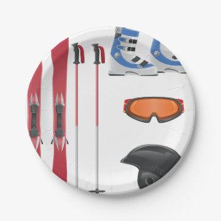 Ski Equipment Paper Plates