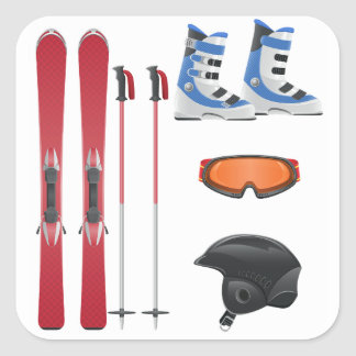 Ski Equipment Stickers