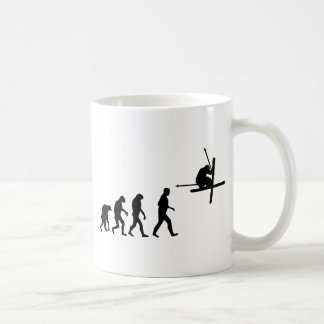 ski evolution icon coffee mug