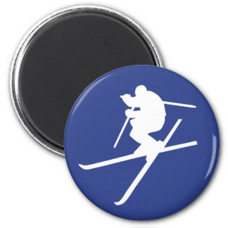Ski freestyle jump magnets