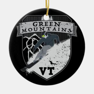 Ski Green Mountains, VT Christmas Ornament