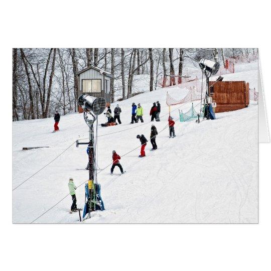 Ski Hill Card