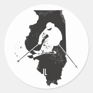 Ski Illinois Classic Round Sticker