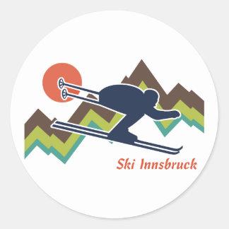 Ski Innsbruck Round Sticker