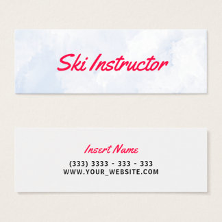 Ski Instructor Abstract Snow Mini Business Card