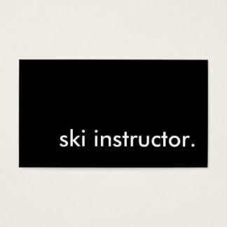 ski instructor. business card