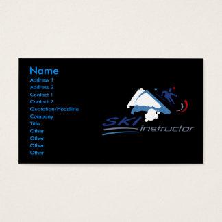 Ski Instructor Business Cards