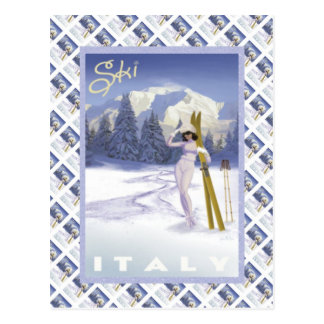 Ski Italy Postcard