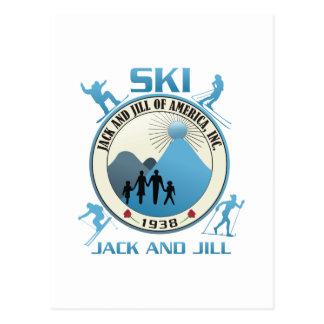 Ski Jack and Jill Blue Stuff Postcard