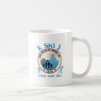 Ski Jack and Jill Pink Stuff Mugs