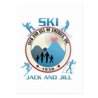 Ski Jack and Jill Pink Stuff Post Card