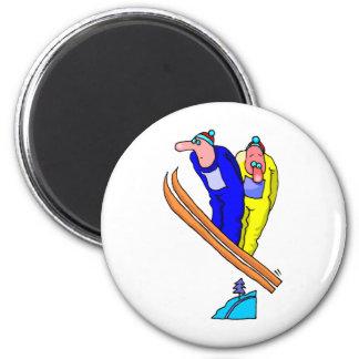 Ski Jump 6 Cm Round Magnet