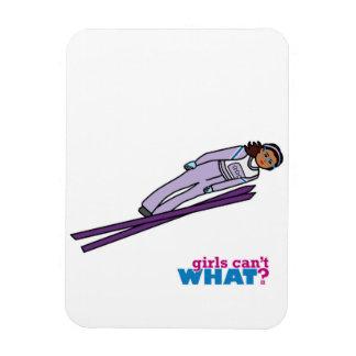 Ski Jump Girl - Dark Vinyl Magnet
