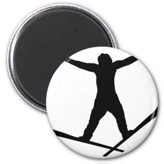 ski jump icon fridge magnet