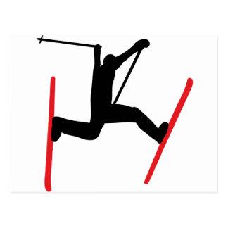 ski jump icon postcard