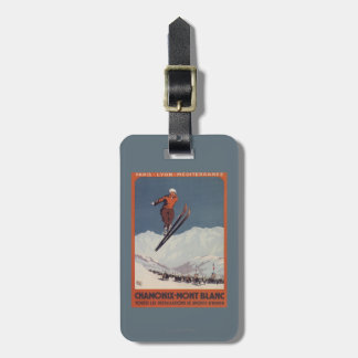 Ski Jump - PLM Olympic Promo Poster Luggage Tag