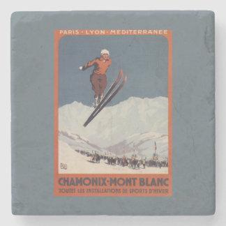 Ski Jump - PLM Olympic Promo Poster Stone Coaster
