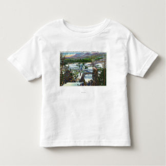 Ski Jumper Takes off from the Olympic Ski Hill Toddler T-Shirt