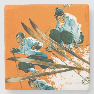 Ski Jumpers by Ski Weld Stone Coaster