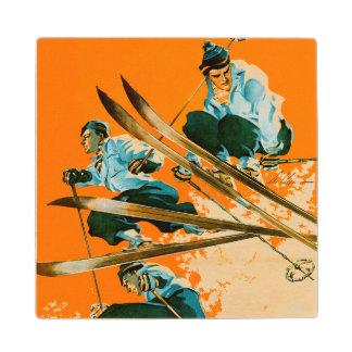 Ski Jumpers by Ski Weld Wood Coaster