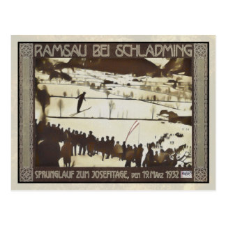 Ski jumping 1932 postcard