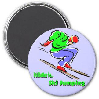Ski Jumping 7.5 Cm Round Magnet