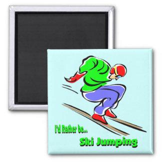 Ski Jumping Refrigerator Magnets
