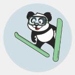 Ski-jumping Panda Sticker