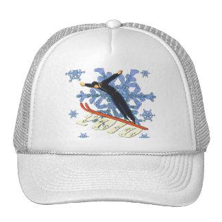 Ski jumping Ski Jumpers winter games gifts Trucker Hat