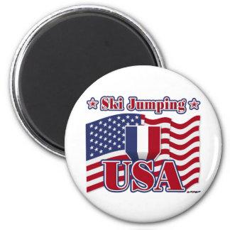 Ski Jumping USA Fridge Magnet