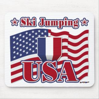 Ski Jumping USA Mousepad