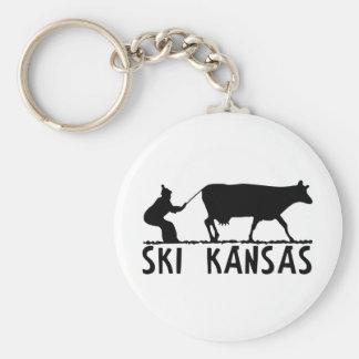 Ski Kansas Key Ring